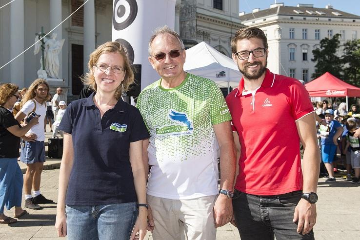 Leonore Gewessler, Leopold Plasch und Jürgen Smrz sind mit dem Fairness Run 2017 zufrieden